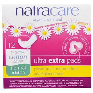 Natracare, Toallas Ultra Extra orgánicas y naturales, normal, 12 toallas