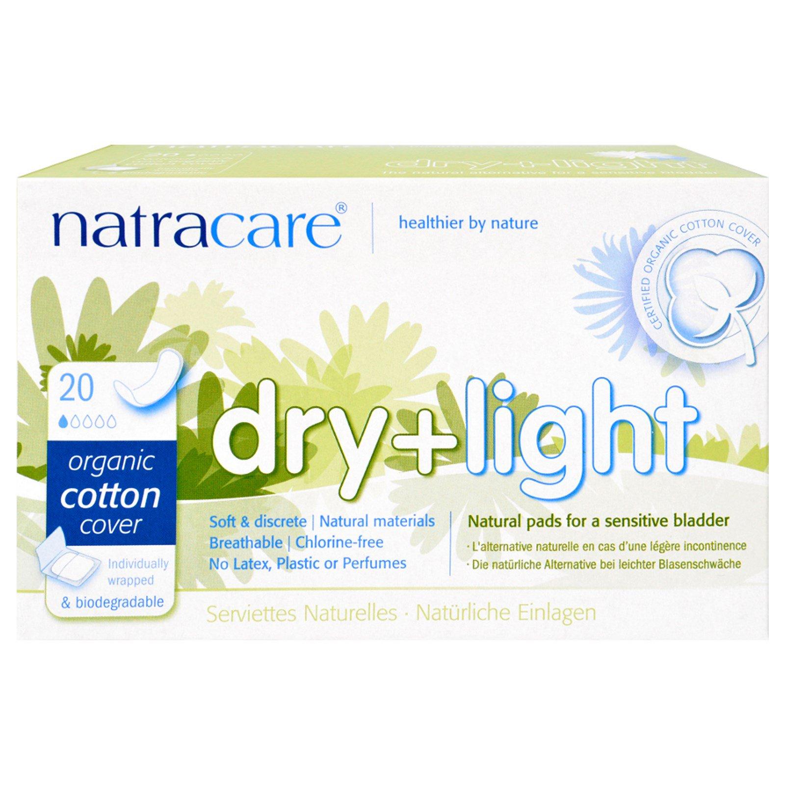Natracare, Сухость + легкость, 20 прокладок в индивидуальной упаковке