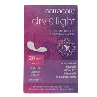 Natracare, Dry & Light, Organic Cotton Cover, Slim, 20 Pads