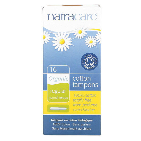 Organic Cotton Tampons, Regular, 16 Tampons