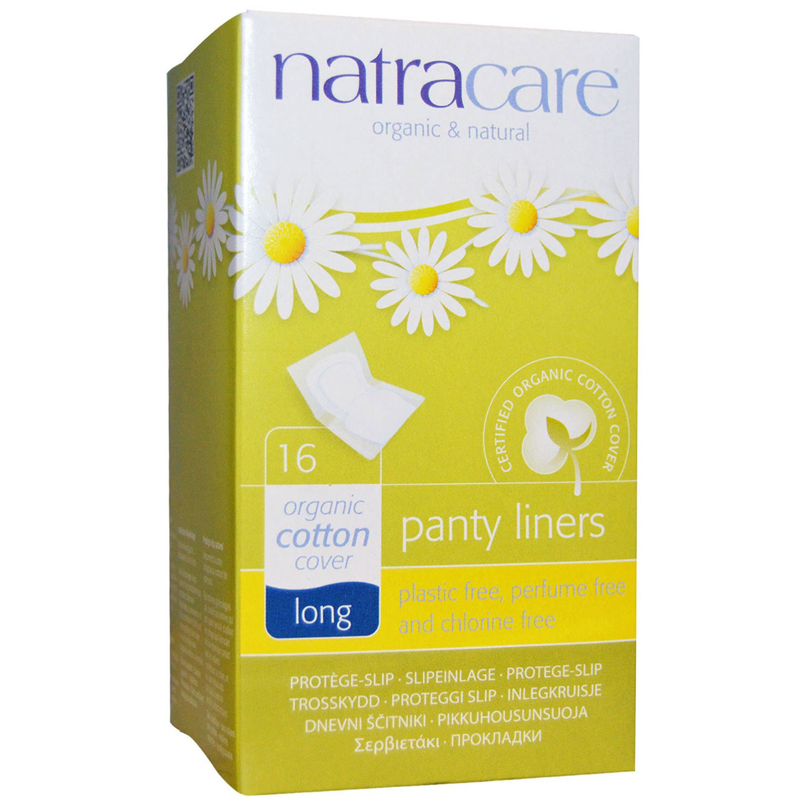 Natracare, Органические и натуральные ежедневные прокладки, длинные, 16 прокладок