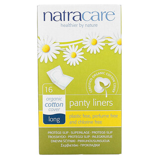 Natracare, Organic Panty Liners, Long, 16 Liners