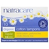 Natracare, オーガニック ・コットン・タンポン、 レギュラー、 10本