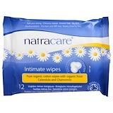 Отзывы о Natracare, Сертифицированные органические хлопковые салфетки для интимной гигиены, 12 салфеток