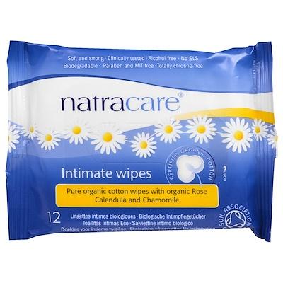 Купить Сертифицированные органические хлопковые салфетки для интимной гигиены, 12 салфеток