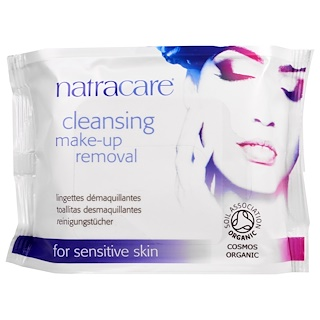 Natracare, Cosmos Organic, Cleansing Make-Up Removal Wipes, 20 Wipes