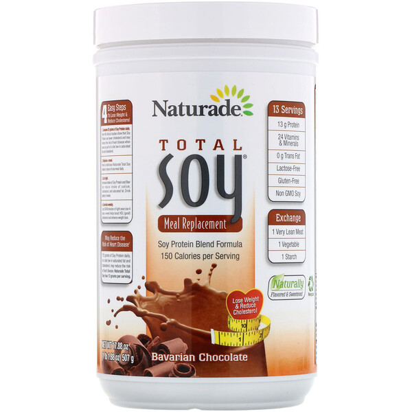 Total Soy, Meal Replacement, Bavarian Chocolate, 17.88 oz (507 g)