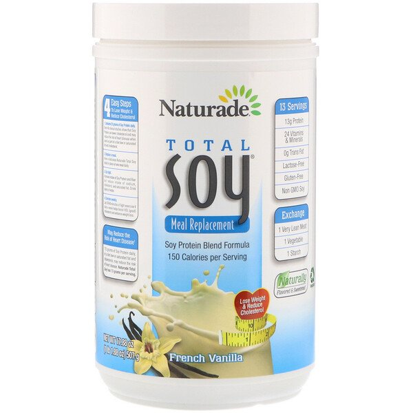 Naturade, Total Soy Meal Replacement, French Vanilla, 17.88 oz (507 g)