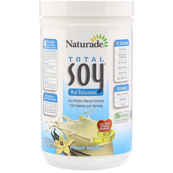 Naturade, Total Soy Meal Replacement, French Vanilla, 17、88 oz (507 g)