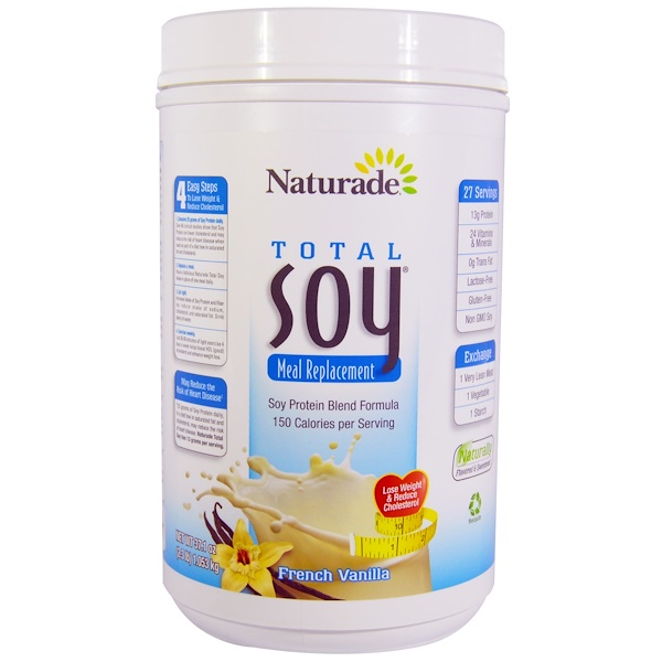 Naturade, Total Soy Meal Replacement, French Vanilla, 37.1 oz (1.053 kg) (Discontinued Item)