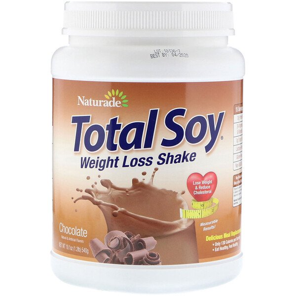 Naturade, Total Soy, Weight Loss Shake, Chocolate, 19.1 oz (540 g)