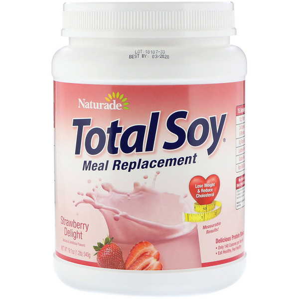 Naturade, Total Soy, reemplazo de comidas, exquisito sabor a frutilla, 19.1 oz (540 g) (Discontinued Item)