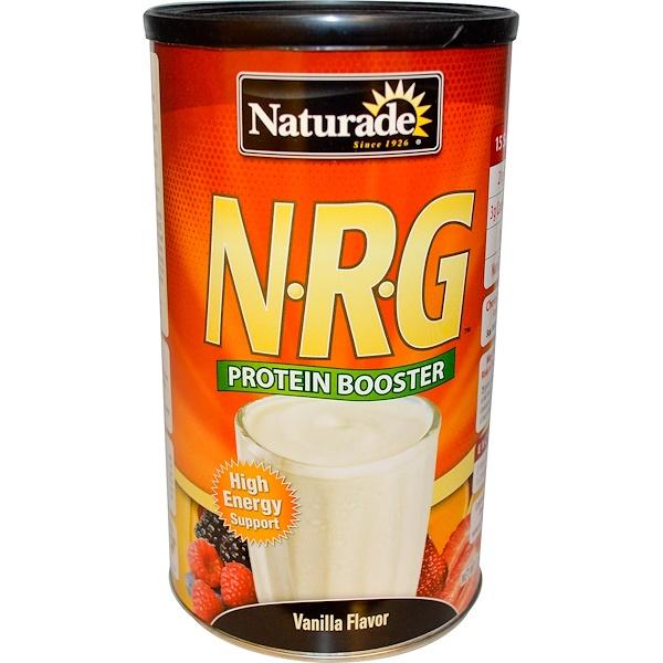 Naturade, N•R•G, Protein Booster, Vanilla Flavor, 15 oz (426 g) (Discontinued Item)