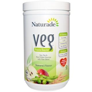 Naturade, VEG, Protein Booster, Natural Flavor, 13.7 oz (389 g)