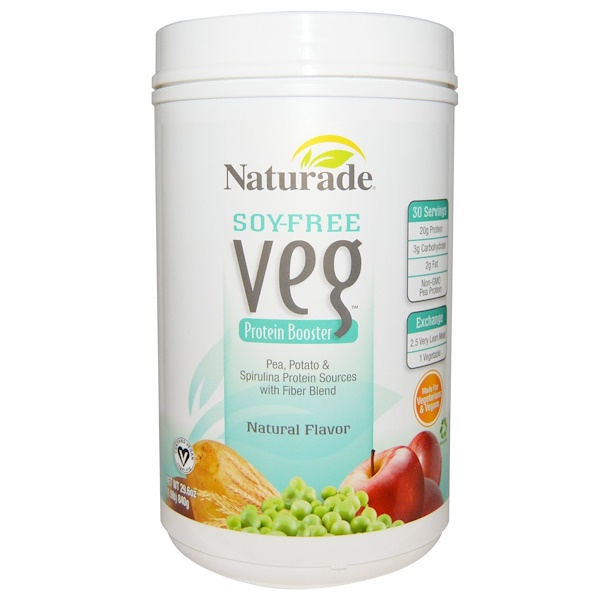 Naturade, Soy-Free Veg, Protein Booster, Natural Flavor, 29.6 oz (840 g) (Discontinued Item)