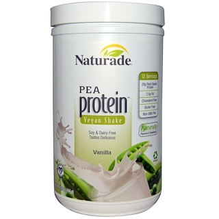 Naturade, Pea Protein, Vanilla, 15.6 oz (444 g)