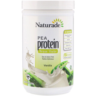 Naturade, Pea Protein Vegan Shake,  Vanilla, 15.2 oz (432 g)