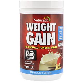 Naturade, Fórmula para ganar peso, vainilla, 20.3 oz (576 g)