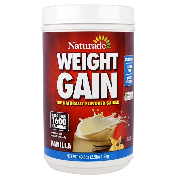 Naturade, Weight Gain, Vanilla, 40.6 oz (2.5 lb)