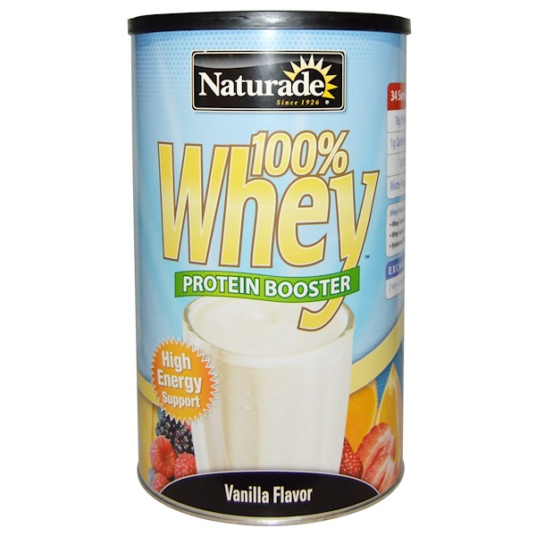 Naturade, 100% Whey, Protein Booster, Vanilla Flavor, 24 oz (680 g) (Discontinued Item)