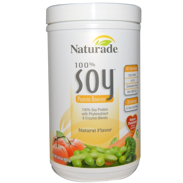 Naturade, 100% Soy Protein Booster, Natural Flavor, 14.8 oz (420 g) (Discontinued Item)