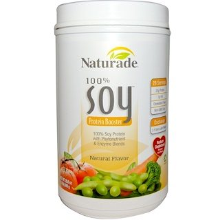 Naturade, 100% Soy Protein Booster, Natural Flavor, 29.6 oz (840 g)