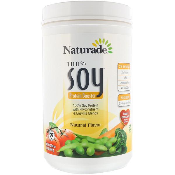 Naturade, 100% ソイ・プロテイン・ブースター、ナチュラル・フレーバー、29.6 オンス (840 g) (Discontinued Item)