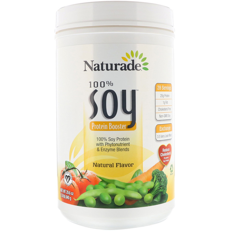 100% Soy Protein Booster, Natural Flavor, 1.85 lbs (840 g)