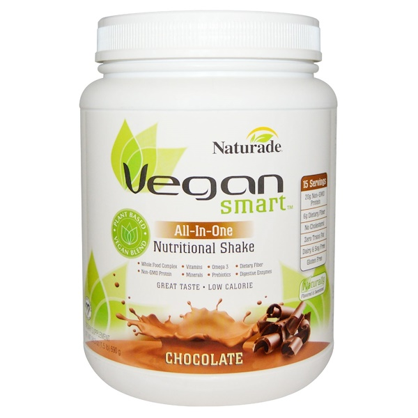 Naturade, VeganSmart, All-In-One, Nutritional Shake, Chocolate, 24.3 oz (690 g) (Discontinued Item)
