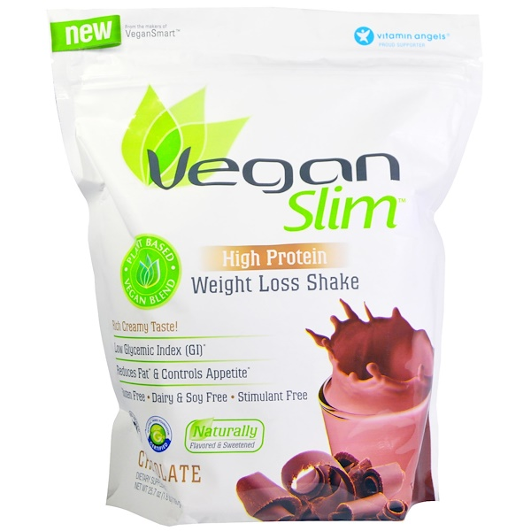 VeganSmart, VeganSlim, Weight Loss Shake, Chocolate, 25.7 oz (728 g) (Discontinued Item)
