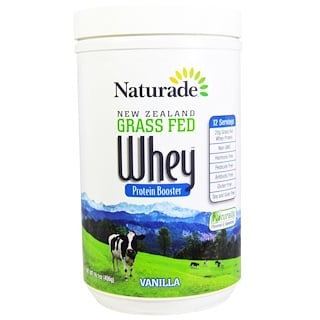 Naturade, New Zealand Grass Fed Whey Protein Booster, Vanilla, 16.1 oz (456 g)
