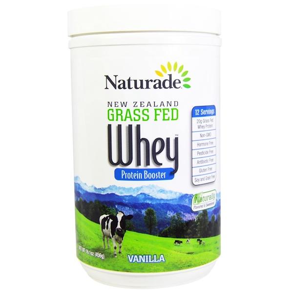 Naturade, New Zealand Grass Fed Whey Protein Booster, Vanilla, 16.1 oz (456 g)