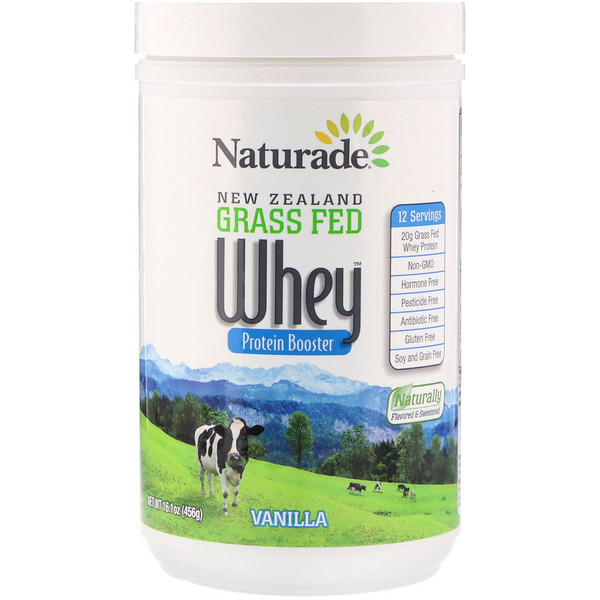 New Zealand Grass Fed Whey Protein Booster, Vanilla, 16.1 oz (456 g)