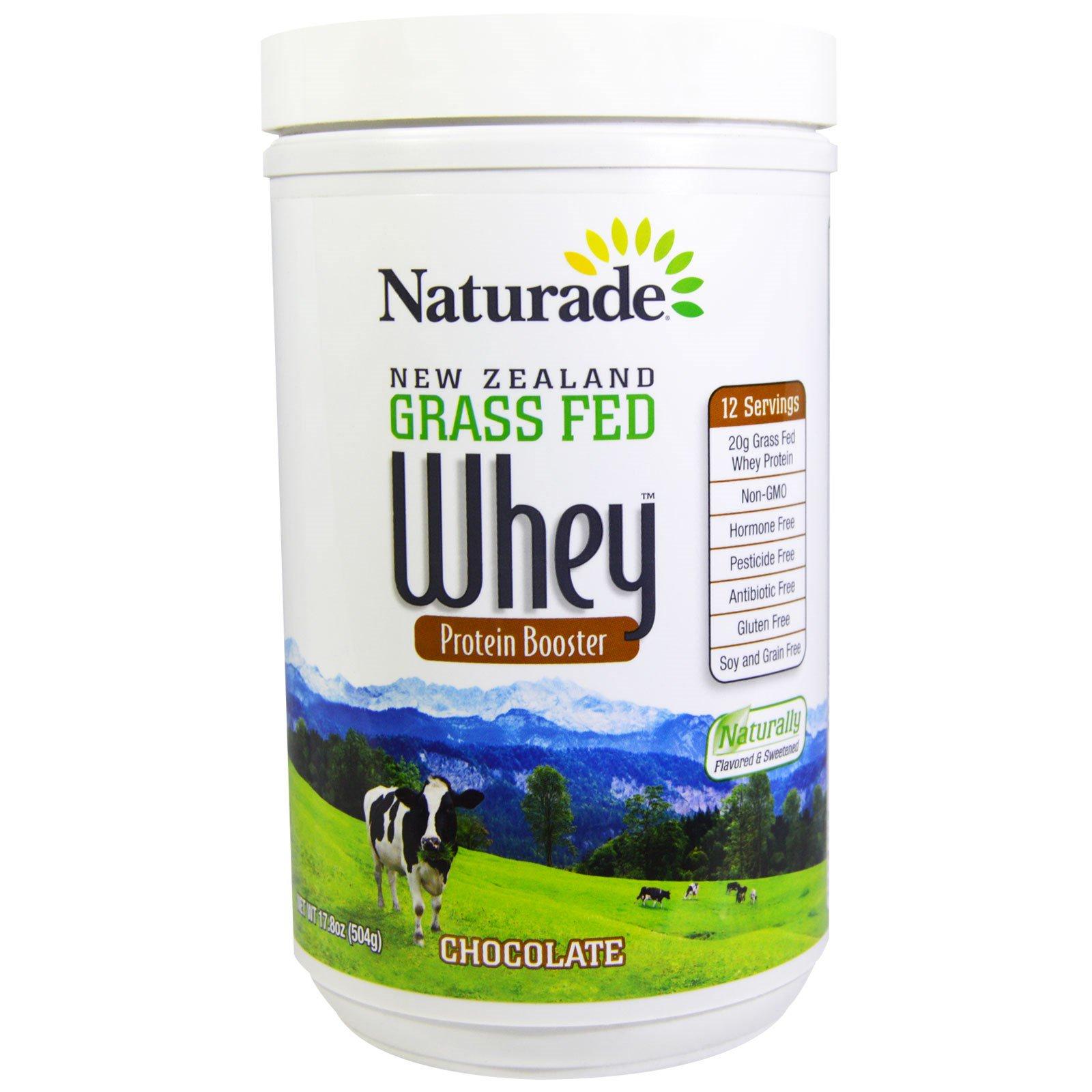 Naturade, Белковый ускоритель из сывороточного белка из молока новозеландских коров, питающихся травой, шоколад, 17,8 унции (504 г)