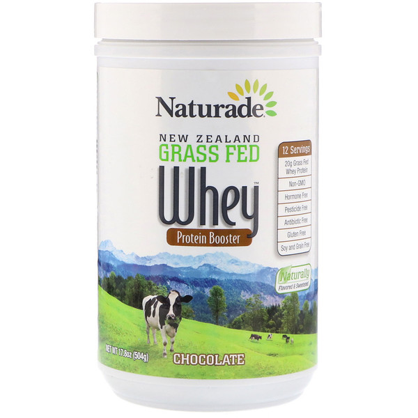 Naturade, New Zealand Grass Fed Whey Protein Booster, Chocolate, 17.8 oz (504 g) (Discontinued Item)