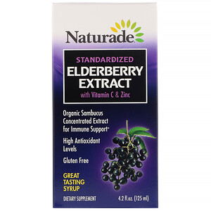 Натураде, Standardized Elderberry Extract Syrup with Vitamin C & Zinc, 4.2 fl oz (125 ml) отзывы