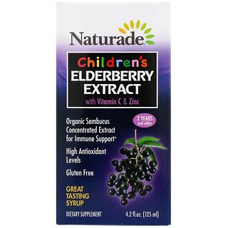 Naturade, 儿童接骨木果提取物糖浆,含维生素 C 和锌,2 岁及以上,4.2 液量盎司(125 毫升)