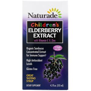 Натураде, Children's Elderberry Extract Syrup with Vitamin C & Zinc, 2 Years and Older, 4.2 fl oz (125 ml) отзывы покупателей
