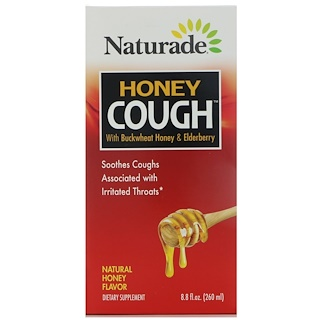 Naturade, Honey Cough with Buckwheat Honey & Elderberry, Natural Honey Flavor, 8.8 fl oz (260 ml)