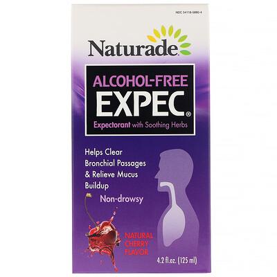 Купить Naturade EXPEC без спирта, отхаркивающее средство на травах, натуральный вишневый вкус, 125мл