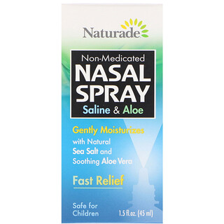 Naturade, Nasal Spray, Saline & Aloe, 1.5 fl oz (45 ml)