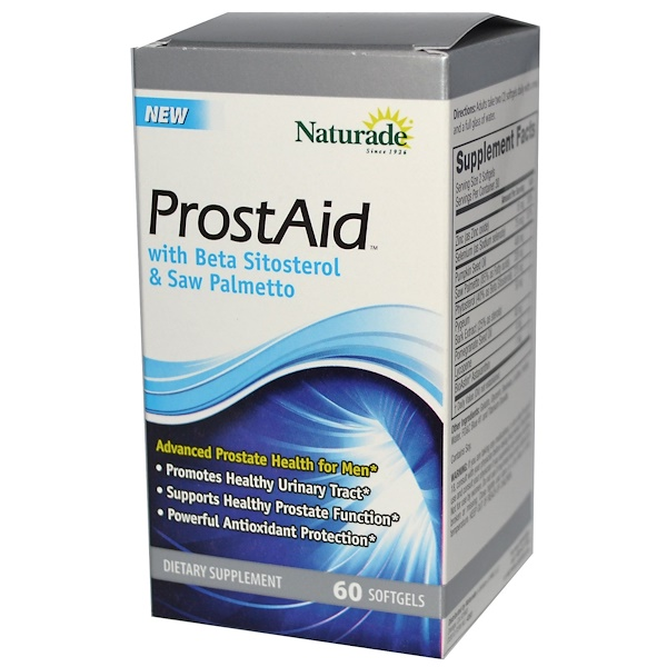 Naturade, ProstAid with Beta Sitosterol & Saw Palmetto, 60 Softgels (Discontinued Item)