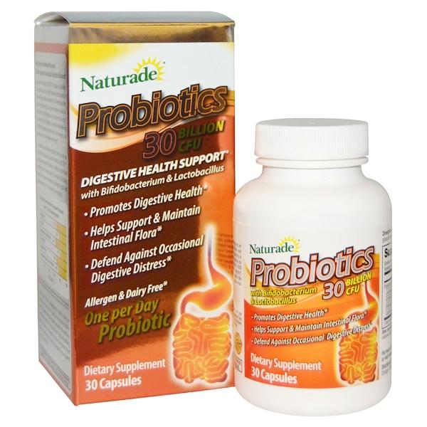 Naturade, Probiotics 30 Billion CFU, 30 Capsules (Discontinued Item)