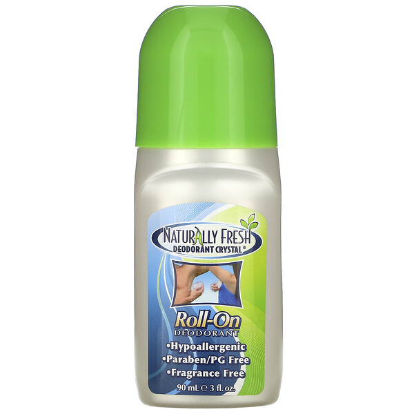 Deodorant Crystal, Roll-On, Libre de Fragancia, 90 ml