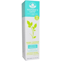 Nature's Gate, Natural Toothpaste, Flouride and Carrageenan Free, Crème de Peppermint, 6 oz (170g)