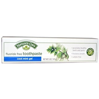 Nature's Gate, Toothpaste, Fluoride Free, Cool Mint Gel, 5 oz (141 g)