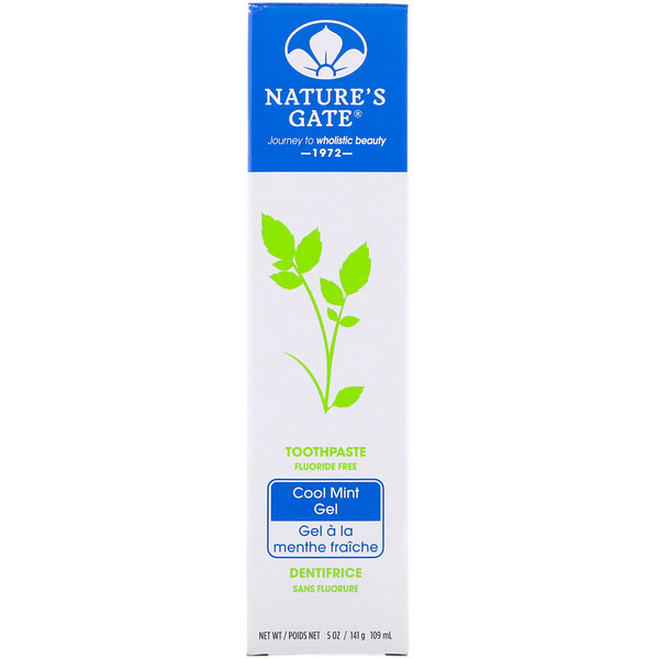 Nature's Gate, Toothpaste, Fluoride Free, Cool Mint Gel, 5 oz (141 g) (Discontinued Item)
