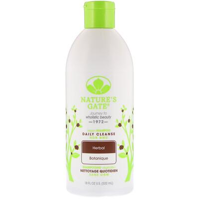 Nature's Gate 草本日常清潔洗髮水,18 液量盎司(532 毫升)