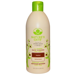 Nature's Gate, Shampoo, Daily Cleanse, Vegan, Herbal, 18 fl oz (532 ml)