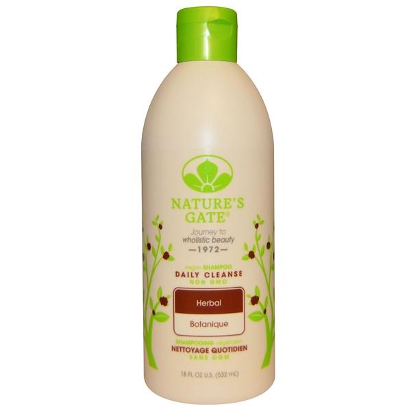 Nature's Gate, Shampoo, Daily Cleanse, Vegan, Herbal, 18 fl oz (532 ml)